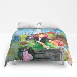 Urban Gardening illustration Comforters