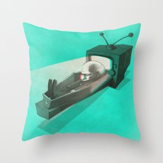 What's on TV? Throw Pillow