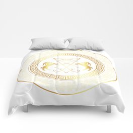 Gold Lucifer Occult Ring Comforters