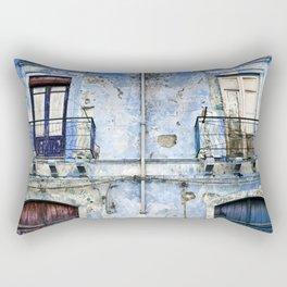 BLUE FACADE of SICILY Rectangular Pillow