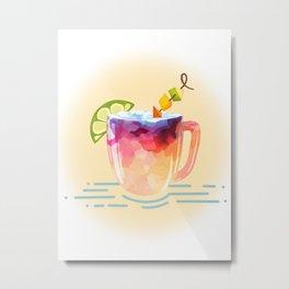 Tropical Drink Metal Print