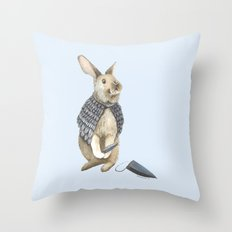 The Disguise: A Rabbit Throw Pillow