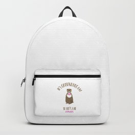 It's Groundhog Day So Let's Eat Donuts Backpack