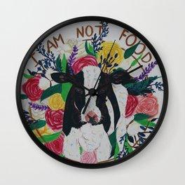 I am not food Wall Clock