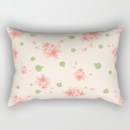 pink flowers pattern spring nature Rectangular Pillow
