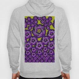 Floral fraktal, purple Hoody