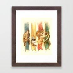 House Brawl Framed Art Print