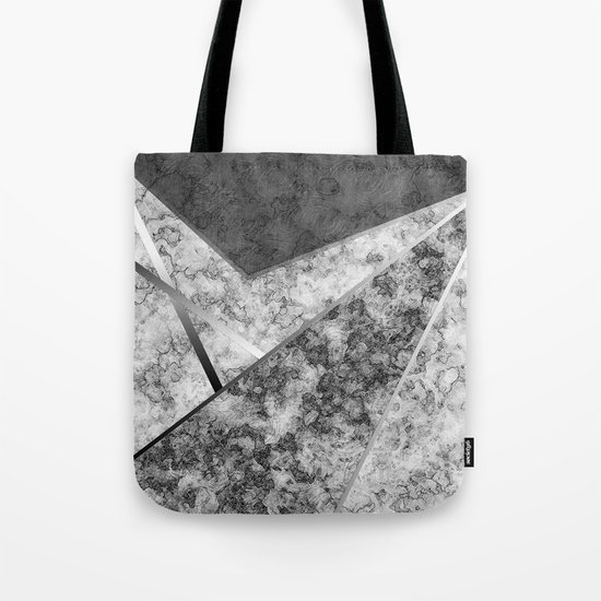 Combined abstract pattern in black and white . Tote Bag