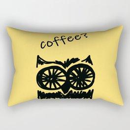 Coffee? Morning owl print Rectangular Pillow