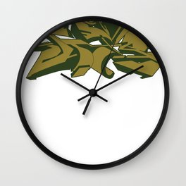 Style grafffiti green Wall Clock