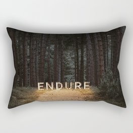 endure. Rectangular Pillow