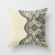 LINEN & LACE Throw Pillow