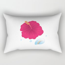 Hibiscus and Rainbow reflected in a Drop of water_R Rectangular Pillow
