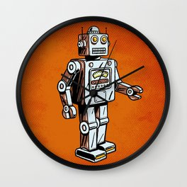 Retro Robot Toy Wall Clock
