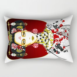The Jade Empress Rectangular Pillow