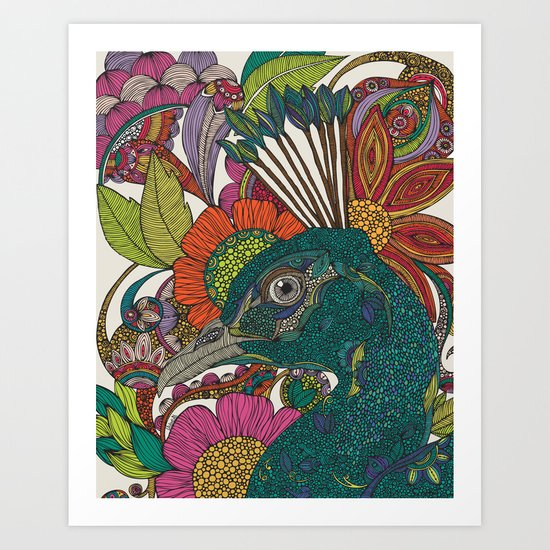 Alexis and the flowers Art Print