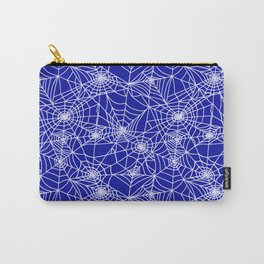 Royal Blue Cobwebs Carry-All Pouch