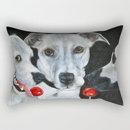 White Dogs and Tootsie Pops Rectangular Pillow