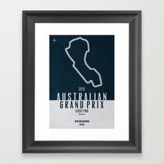 2013 Australian Grand Prix Framed Art Print
