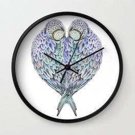 LOVE BIRDS IN COLOUR Wall Clock