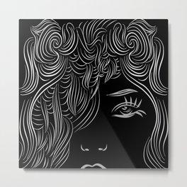 women black white Metal Print