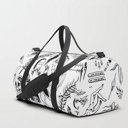 Death Lily Tattoo Flash Print Duffle Bag