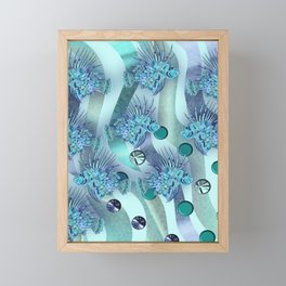 LIONFISH CAMOUFLAGE. Framed Mini Art Print