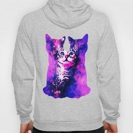 pianca baby cat kitten splatter watercolor purple pink Hoody