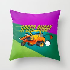 Speed Buggy Throw Pillow