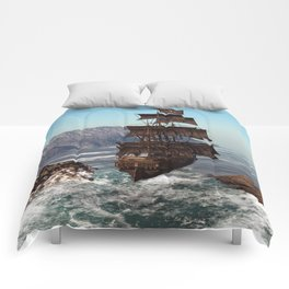 Pirate Ship Comforters