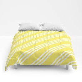 Yellow Large Small/Small Stripes Comforters