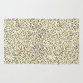 Salna - gold foil modern black and gold gender neutral art abstract design decor minimal trendy urba Rug