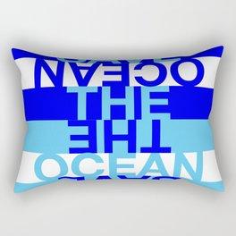 Save the Ocean Rectangular Pillow