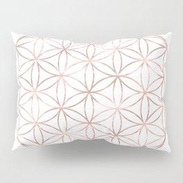 Mandala Rose Gold Flower of Life Pillow Sham