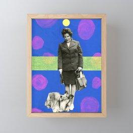 Eva With Collie, The Magic Dog Framed Mini Art Print