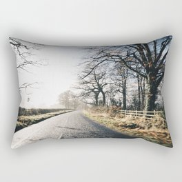 Winter road cycling Rectangular Pillow