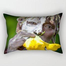 Suri woman with flower Rectangular Pillow