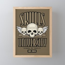 Skulls University Framed Mini Art Print