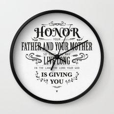 The Fifth Commandment Wall Clock