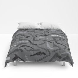 Handgun Silhouettes Comforters