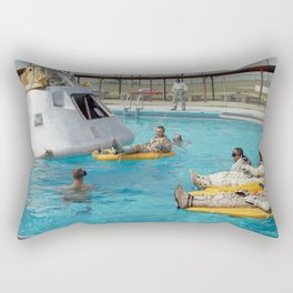 Apollo 1 - Relaxing by the Swimming Pool Rectangular Pillow