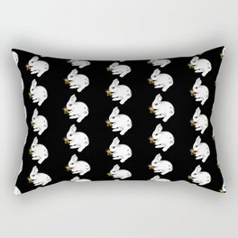 Some'bunny' Loves you...LOTS! (on black) Rectangular Pillow