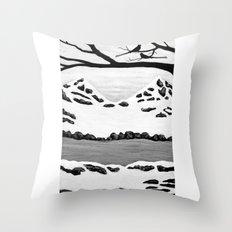 Scissortail Winter Throw Pillow
