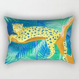 Leopard on Tree Rectangular Pillow