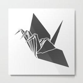 3crane (black) Metal Print