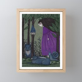 There is a Place in the Woods... Framed Mini Art Print
