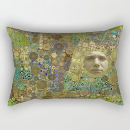 Into the Woods Abstract Art Collage Rectangular Pillow