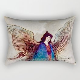 """Moon Maiden"" Fairy Art by Warwick Goble Rectangular Pillow"