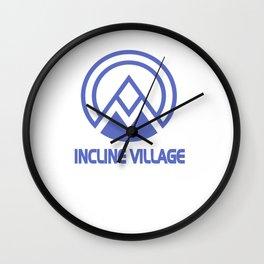 Incline Village Lake Tahoe Ski Resort Vacation Souvenir Wall Clock