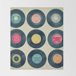 Vinyl Collection Throw Blanket